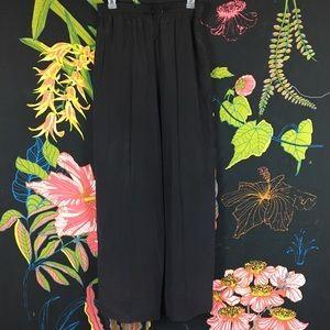 VINTAGE / 100% Silk Vintage Drawstring Pants